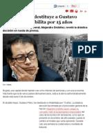 Gustavo Petro fue destituido por la Procuraduría, Nación - Semana