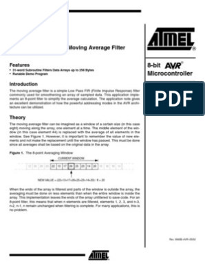 8-Point Moving Average Filter | Array Data Structure