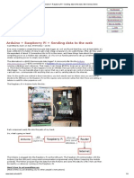 Arduino + Raspberry Pi + Sending Data to the Web
