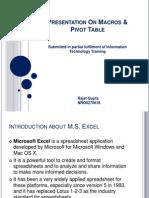 Presentation on Macros & Pivot Table2
