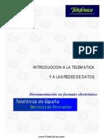 Introducción a La Telemática y a Las Redes de Datos