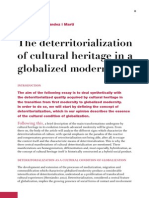 The deterritorialization of cultural heritage in a globalized modernity. Gil Manuel Hernandez i Martí