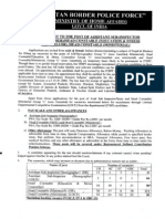ITBPF - Recruitment to the Post of Asst Sub-Inspector, Head Constable