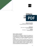 Urbano,URBANIDAD, Urbanismo