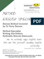 Barnes Method English Specialist @ Rodivaldo Marcelo Raimundo
