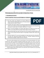 Berita Resmi BPS Sumut Bulan September 2013