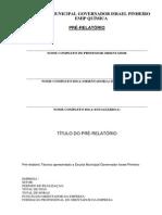 Modelo de Pré-relatório 2014