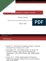 Lambda Calculus CLC