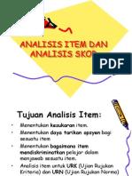 Analisis Item Dan Analisis Skor