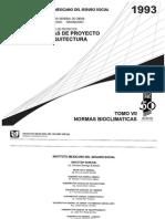 Normas de Proyecto y Arquitectura - IMSS - Tomo VII