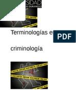 Terminologías en criminologia