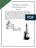 Reporte de comisión de música
