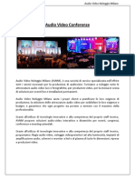 Audio Video conferenza milano