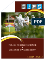 FSP 101 Forensic Science Criminal Investigation