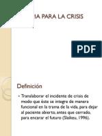 Terapia Para La Crisis