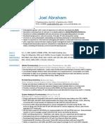 JoelAbraham Resume