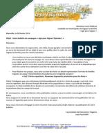Lettre de Rencontres Tsiganes à Louis Padilla