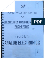 Made Easy GATE/IES Analog Electronics Notes
