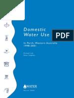 Loh & Coghlan. Domestic Water Use Study