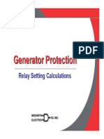 Generator Protection relay setting calculation