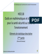 HSE118 Eléments de statistique descriptive 2ième partie