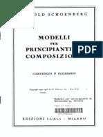 Schoenberg Modelli x Principianti Di Composizione