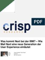 Was kommt Next bei der IBM? – Wie Mail Next eine neue Generation der User Experience einläutet