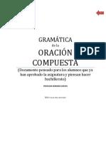 APUNTES COMPLETOS DE  LA ORACIÓN COMPUESTA