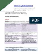 SAP ABAP Interview Questions Part 1
