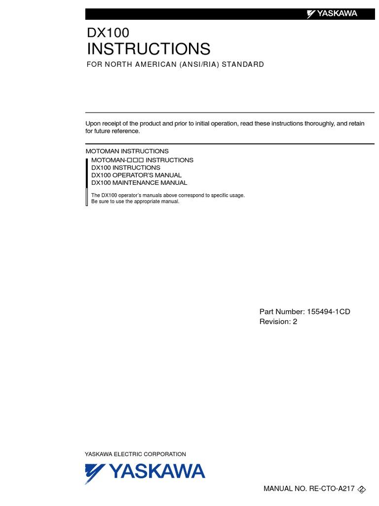 dx100 intructions for north american ansiria standard rh scribd com