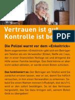 Postkarte «Vertrauen ist gut, Kontrolle ist besser!»