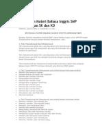 Bentangan Materi Bahasa Inggris SMP Berdasarkan SK Dan
