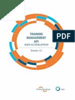 Guide Du Développeur - Training Management API 1.0