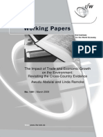 Trade and Economic Growth on the Environment