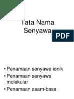 Tata Nama Senyawa