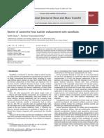 Review of convective heat transfer enhancement with nanofluids