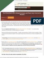 Scott Hanselman's 2014 Ultimate Developer and Power Users Tool List for Wind