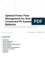 Optimal Power Flow Management for Grid Connected PV
