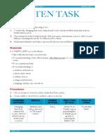 written task briefing