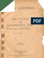 Metodo Para Clarinete Jazz Por Benny Goodman