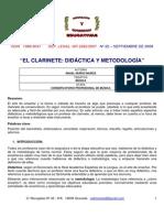 El Clarinete Didactica y Metodologia