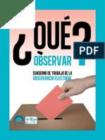 Observadores nacionales electorales ¿Qué observar?