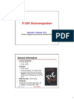 Handout Lecture01 Introduction and Vector Analysis