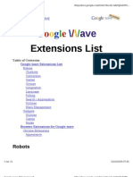 Google Wave Extension List