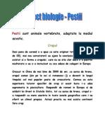 Proiect Biologie - Pestii