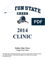 Dalton State Cheer College Prep Clinic