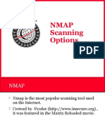 NMAP Scannning Options