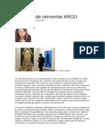 Alicia de Arteaga - El Tiempo de Reinventar ARCO.