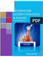 Information Security Strategies And Policies - Assignment No. 07