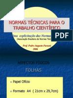 FORMATAÇÃO TRABALHOS CIENTIFICOS ABNT - FURASTE